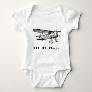Vintage Vliegtuig, de Plannen van de Vlucht Romper