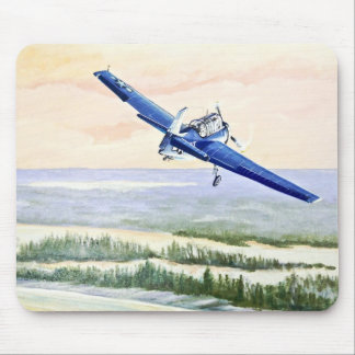 Vintage Vliegtuig Muismat