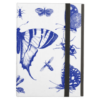 Vintage Vlinders in Blauw iPad Air Hoesje