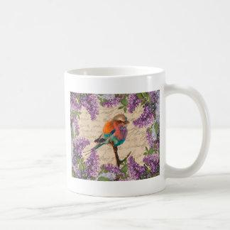 Vintage vogel en sering koffiemok