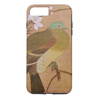 Vintage Vogel op een Tak van de Perzik iPhone 7 Plus Hoesje