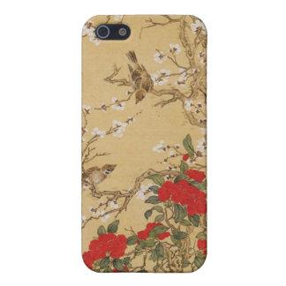 Vintage Vogels en Bloemen iPhone 5 Hoesjes