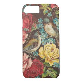 Vintage Vogels en Bloemen iPhone 8/7 Hoesje