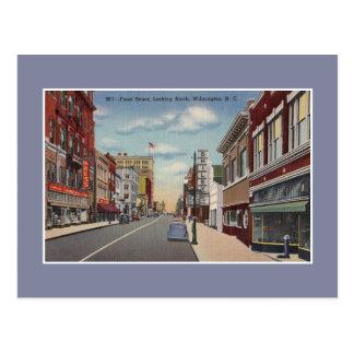 Vintage VoorStraat Wilmington NC Briefkaart