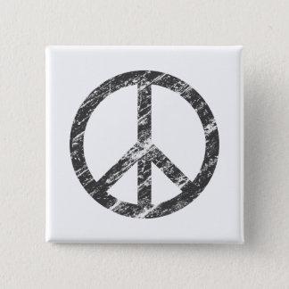 vintage vredessymbool vierkante button 5,1 cm