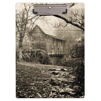 Vintage Waterrad Klembord