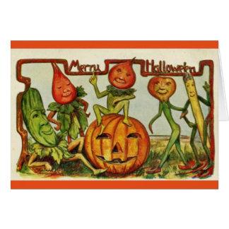 Vintage Wenskaart van het Flard van Halloween het