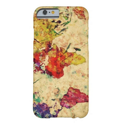 Vintage wereldkaart barely there iPhone 6 case