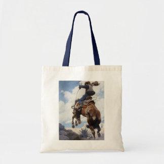 Vintage Westerne Cowboys, die zich door NC Wyeth Draagtas