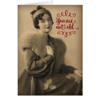 Vintage Who van de Vrouw van jaren '20 is Retro, Briefkaarten 0