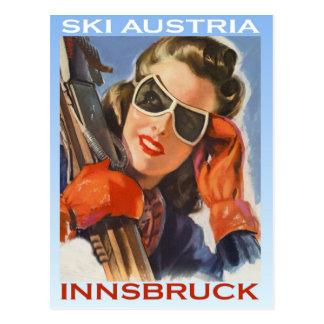 Vintage wintersporten, Ski Oostenrijk, Innsbruck Briefkaart