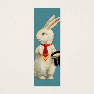 Vintage Wit Konijn Mini Visitekaartjes