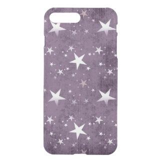 vintage witte sterren op paarse vector als iPhone 7 plus hoesje
