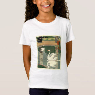 Vintage Witte Zwanen T Shirt