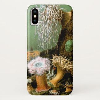 Vintage Zeeanemonen, de Mariene OceaanDieren van iPhone X Hoesje