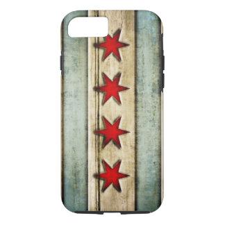 Vintage ziet het Verontruste Hout van Chicago Vlag iPhone 8/7 Hoesje