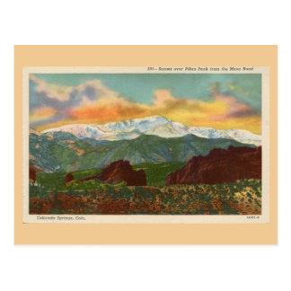 Vintage Zonsondergang over de Piek van Snoeken, Briefkaart