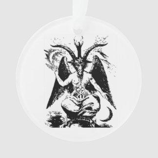 Vintage Zwarte Baphomet Ornament