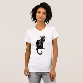 Vintage Zwarte Cat Tournee Du Chat Noir T Shirt