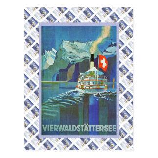 Vintage Zwitsers Raulway Poster, Briefkaart