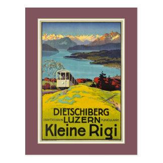 Vintage Zwitserse Alpen Luzerne adverterene Rigi Briefkaart