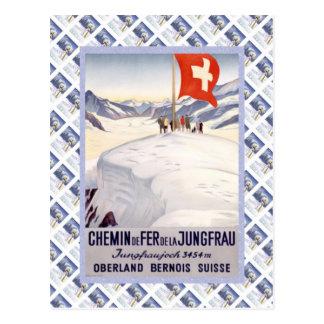 Vintage Zwitserse Raulway Jungfrau Jungfraujoch Briefkaart