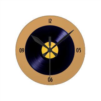 Vinyl de klokmuur van de muziekschijf ronde klok