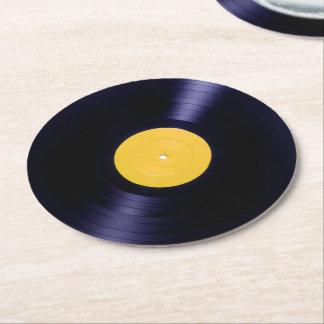 Vinyl de stijldekking van schijf retro oude tijden ronde onderzetter