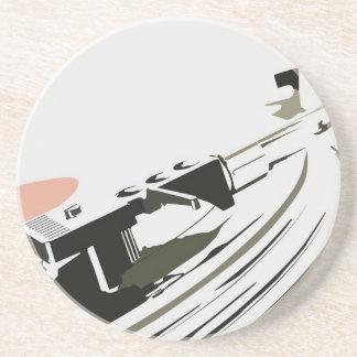 Vinyl Draaischijf Zandsteen Onderzetter