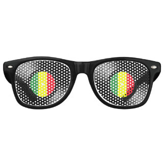 Vinyl reggae retro zonnebril