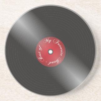 Vinyl Zandsteen Onderzetter
