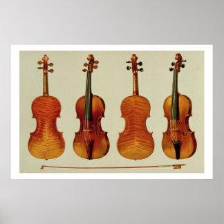 """Violen (LtoR): """"Alard"""" door Antonio Stradivariu Poster"""