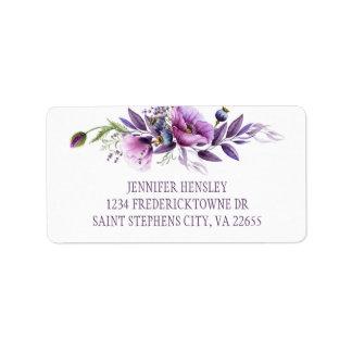 Violet Paars Adres | van Wildflowers van de Etiket
