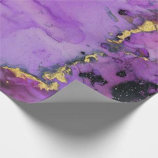 Violetkleurig van de Verf van de inkt Vloeibaar Cadeaupapier