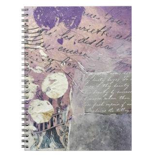 Violette Bloemblaadjes - Collectie Notitieboek