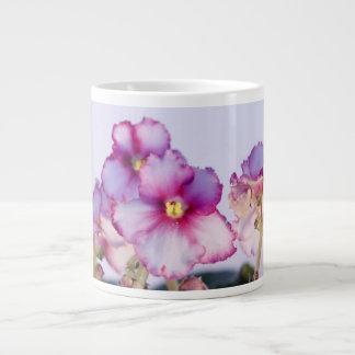 Violette Bloemen de JumboMok van 20 oz - Kom Grote Koffiekop