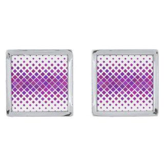 Violette Diamanten Verzilverde Manchetknopen
