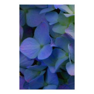 Violette paarse hydrangea hortensia's briefpapier