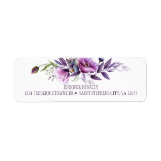 Violette Paarse Terugkeer Address| van Wildflowers Etiket