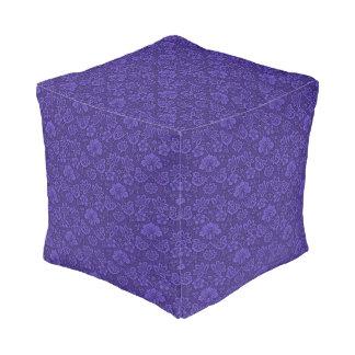 Violette textuur poef