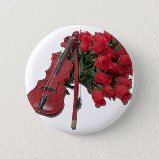 ViolinOnBouquetRoses012511 Ronde Button 5,7 Cm
