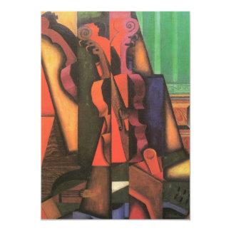 Viool en Gitaar door Juan Gris, Vintage Kubisme Persoonlijke Uitnodigingen