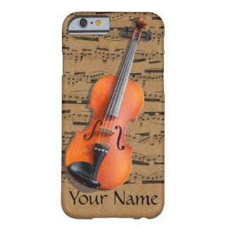 Viool Gepersonaliseerde Muzieknoten Barely There iPhone 6 Hoesje