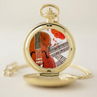 Viool met het Zakhorloge van de Muziek van het