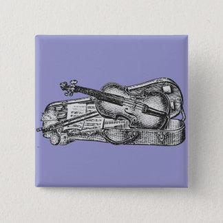 Viool met Hoesje Vierkante Button 5,1 Cm