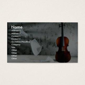 Viool met muziekbladen het drijven visitekaartjes