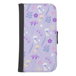viooltje, paarse lavendel, leuk, bloemen, roze, galaxy s4 portemonnee hoesje
