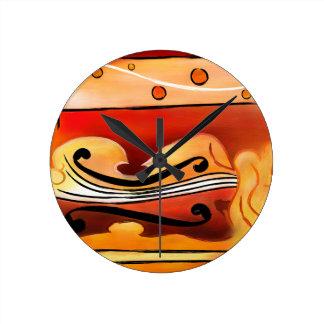 Vioselinna - viool gesteunde schoonheid ronde klok