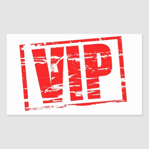 VIP rubberzegeleffect Rechthoekvormige Sticker