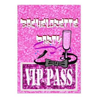 Vip van de vrijgezellin roze partijuitnodiging kaart